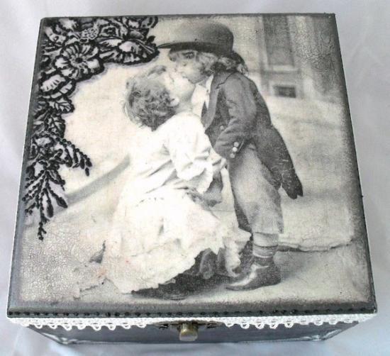 caja de madera decorada caja de madera decorada madera papel pinturas decoupage