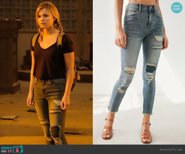 c25f7c59898b5a Tandy s distressed jeans on Cloak and Dagger. Outfit Details  https    wornontv