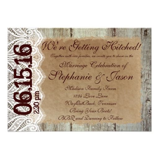 291 Best Rustic Wedding Invitations Images On Pinterest | Unique Wedding  Invitation, Wedding Stationary And Zazzle Invitations