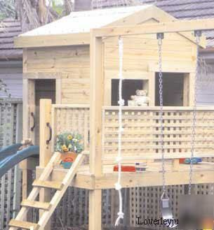 tree house plans for kids | Doll house, playhouse, wendyhouse, treehouse, pdf plans