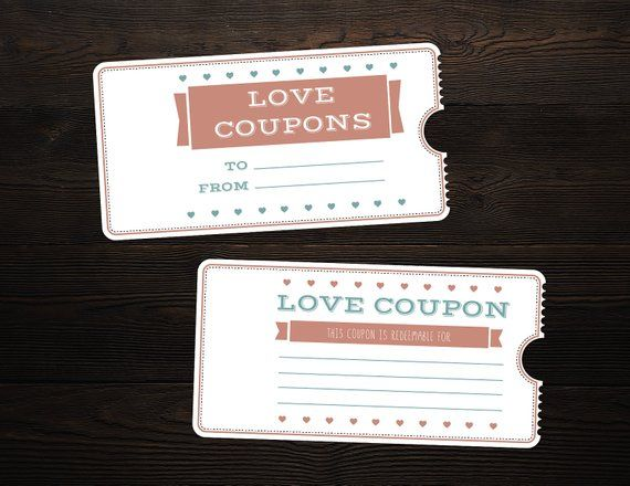 Valentine S Day Printable Love Coupon Booklet Microsoft Word
