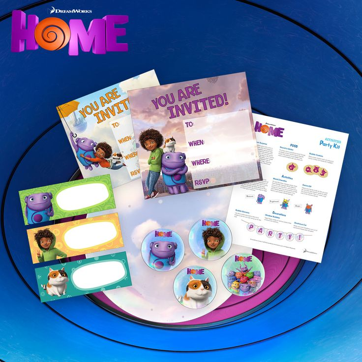 1000+ images about HOME birthday party on Pinterest  Dreamworks, Home ...