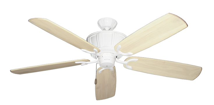 Centurion Pure White Ceiling Fan With 60 Series 450 Arbors In Whitewash