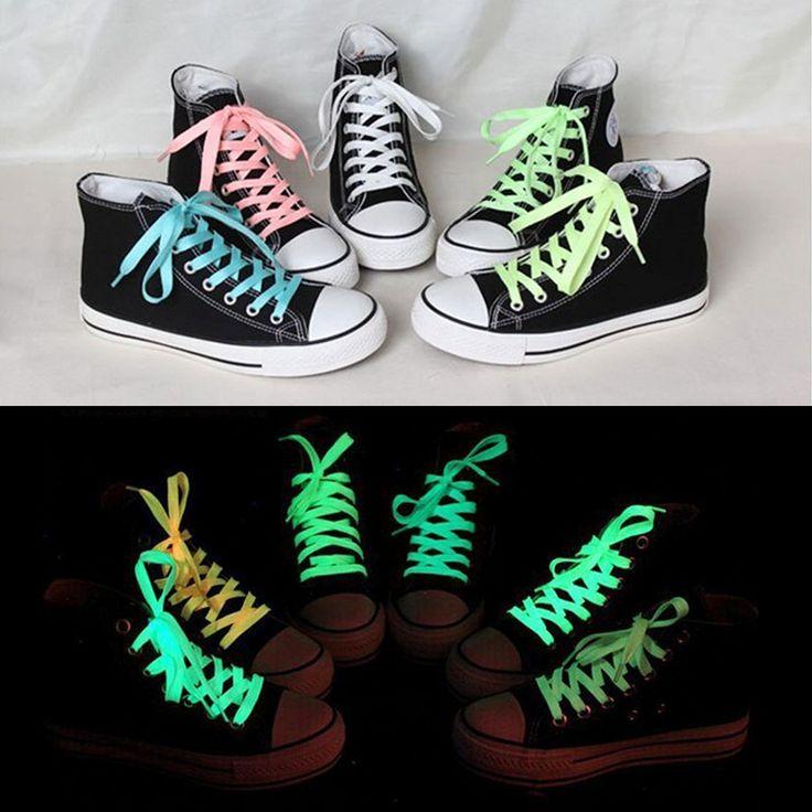 Купить товар 1 пара 80 см <b>Спорт</b> Светящиеся Шнурки Светятся В ...