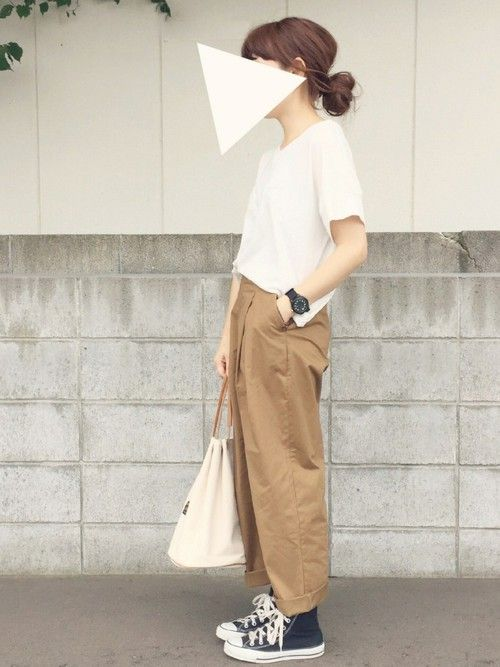 URBAN RESEARCH DOORS WOMENS的褲子使用san的搭配│先日のコーデ。夏ももう終わりだな〜(...