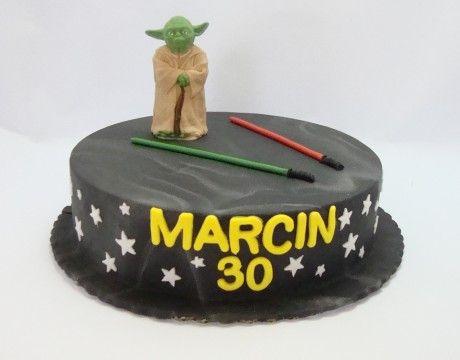 Torty dla dorosłych - Cukiernia Gateau Tort Star Wars #cake, #tort, #starwars, #yoda, #urodziny, #cukiernia, #gateau, www.cukierniagateau.pl