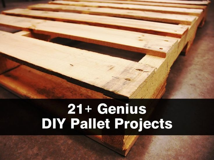 21+ Genius DIY Pallet Projects some of these are really good!