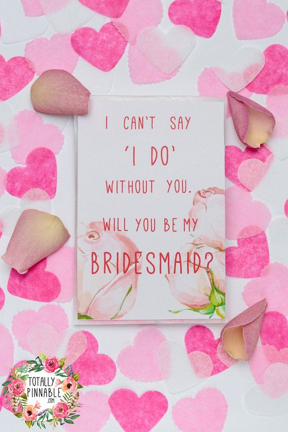 Will You Be My Bridesmaid? Confetti filled glassine envelope with real rose petals. Perfect to ask your girls for your wedding day!