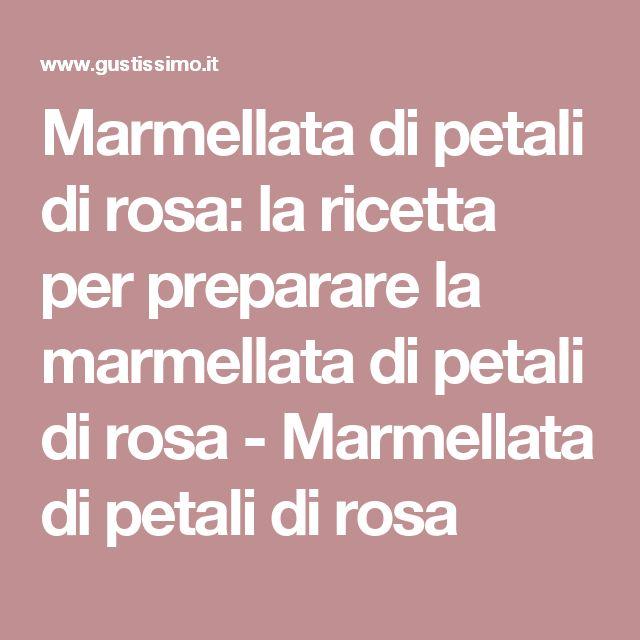 Marmellata di petali di rosa: la ricetta per preparare la marmellata di petali di rosa - Marmellata di petali di rosa