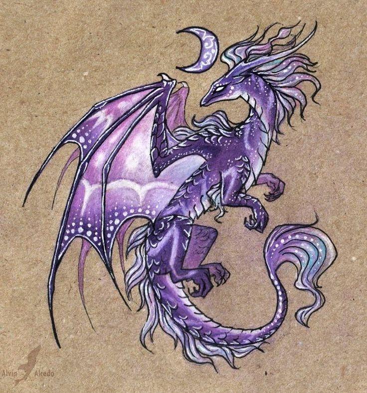 girly dragon tattoo drawings