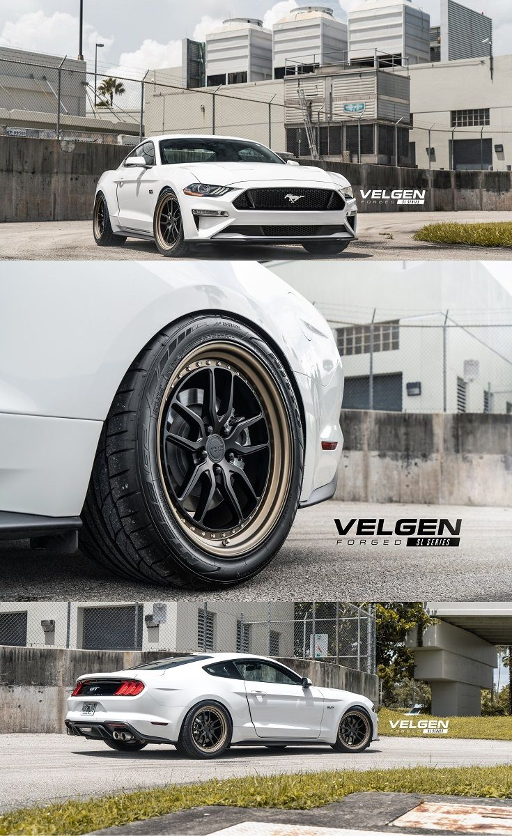 White Ford Mustang With A Freshened Exterior Ford Mustang Aftermarket Headlights Nitto Tire
