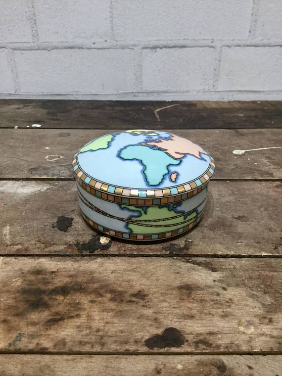 85 best world globe collectibles decor and gifts images on treasure box world map jewelry box porcelain gumiabroncs Image collections