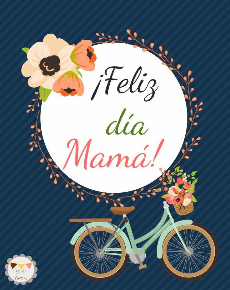 Freebie! Tarjeta para imprimir descargable gratis!! -> So Hip Fiestas: Sorteo: Mini-Candy Buffet para ¡Mamá! #freebie #mamá #Sorteo #CandyBuffet