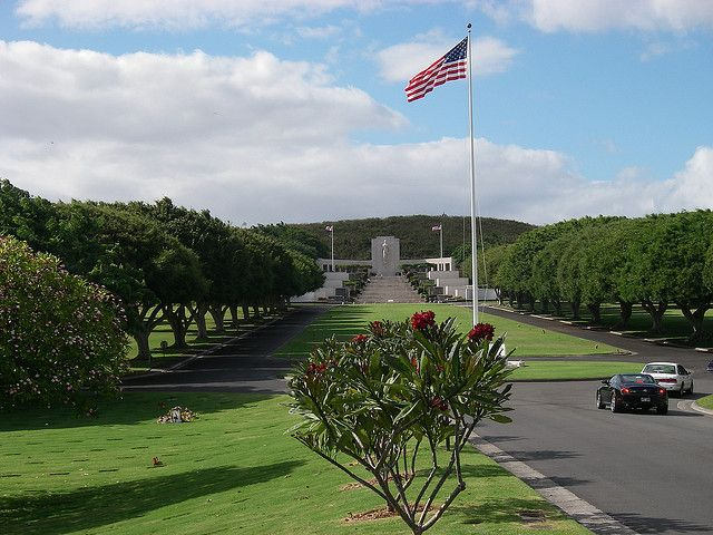 Punchbowl Memorial Cemetery on Oahu.  I really, really want to go see this. Hawaii Trip Bucket List # 10