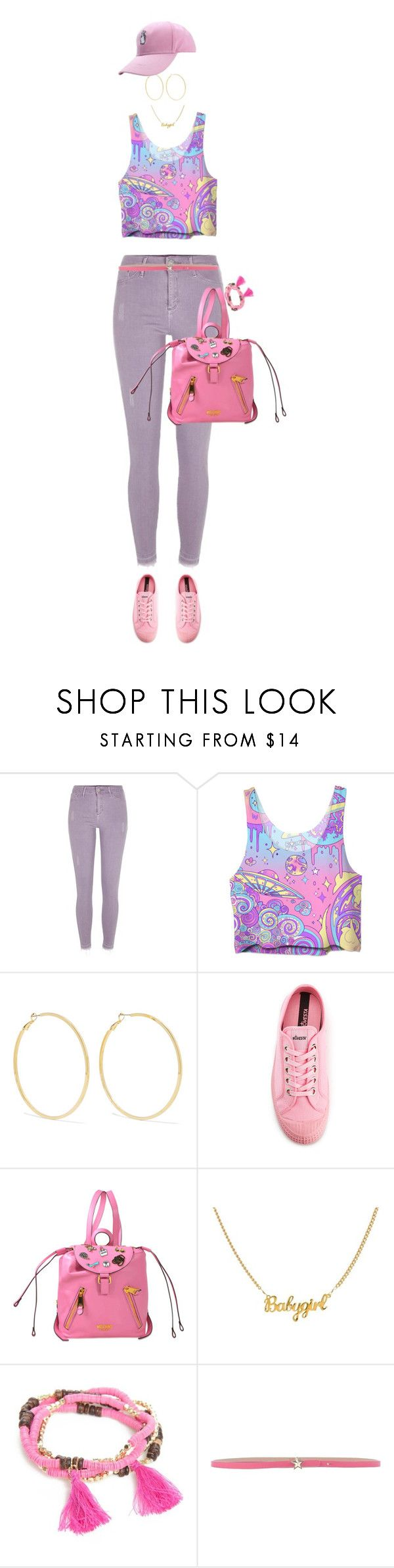 """""""Lilac And Pink"""" by ittie-kittie ❤ liked on Polyvore featuring River Island, Kenneth Jay Lane, Novesta, Moschino, New Directions, RED Valentino, Summer, Pink, summerstyle and lilac"""