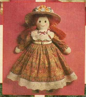 SEWING PATTERN * 24 INCH ISABELLA VICTORIAN RAG DOLL ...