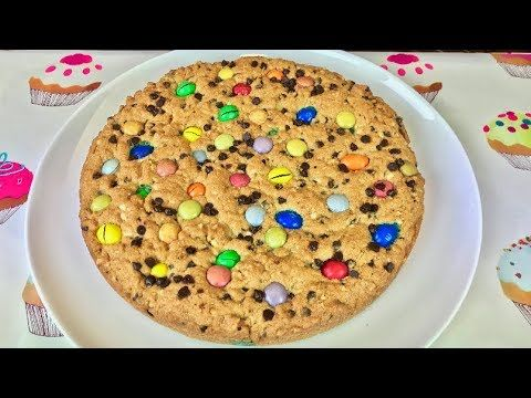 TORTA COOKIE con Smarties e M&M's - YouTube