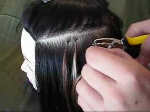 Keratin tipped hair extension removal