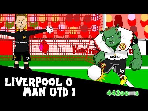 Cartoon remake of Wayne Rooneys winner for Man United at Liverpool (442oons Video)