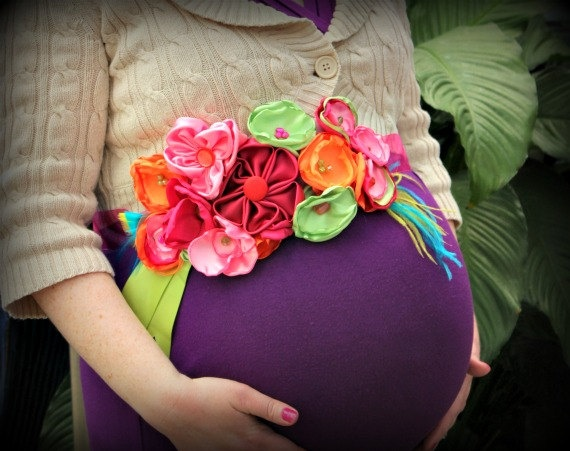 Maternity Sash Pregnancy Sash Wedding Sash by thelaughingprincess, $39.00