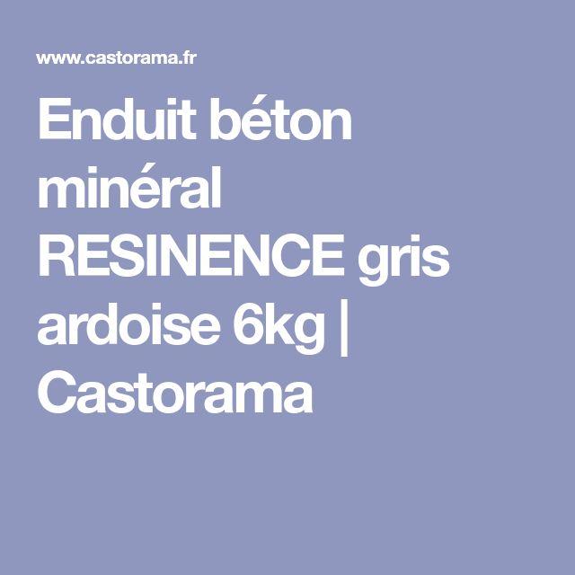 Enduit béton minéral RESINENCE gris ardoise 6kg | Castorama