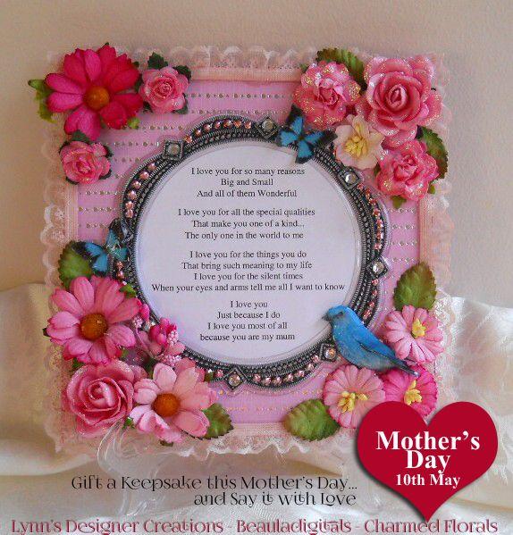 Handmade Wooden Decorative Keepsake Plaque for Mother's Day