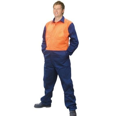 Promo Hi-Vis Cotton Dril Overall Min 25 - Day Use Safety Wear 310gsm, 100% Cotton Drill. http://www.promosxchange.com.au/promo-hivis-cotton-dril-overall/p-9561.html
