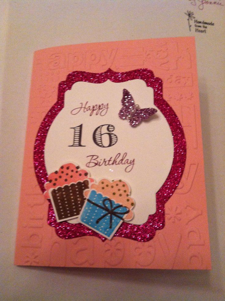Sweet 16 Card Making Ideas Part - 25: 16th Birthday Card