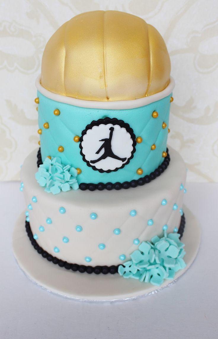 Volleyball wedding cake