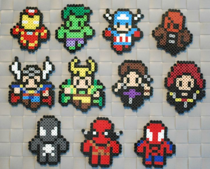 Marvel Comics perler bead sprites by srhgrc