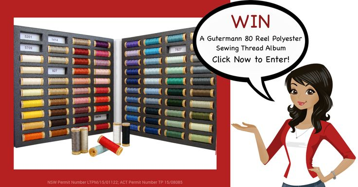 Here's a chance to win a Gutermann 80 Reel Polyester Sewing Thread Album!  Entries close 31st August midnight AEST. Click Here and Enter to Win. http://upvir.al/ref/E7790396