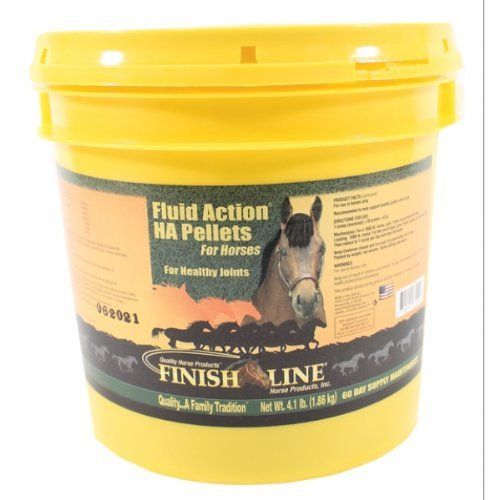Fluid Action Ha Pellets by Finish Line. $83.84. New fluid action ha provides the same great benefits as original with the added sodium hyluronate for extra support.. It improves joint function by lubricating joints and helping to maintain structural integrity.. Increases viscosity level of the synovial fluid in joints.. 4.1 Lb/60 DayHorse Feed Supplements at The Pet Supply CompanyActive Ingredients: Glucosamine Hci (shellfish Source) 5000mg, Ascorbic Acid 1000mg, Actiblen...