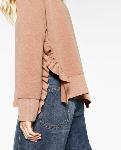 Image 7 of SWEATER WITH SIDE SLIT AND FRILLS from Zara