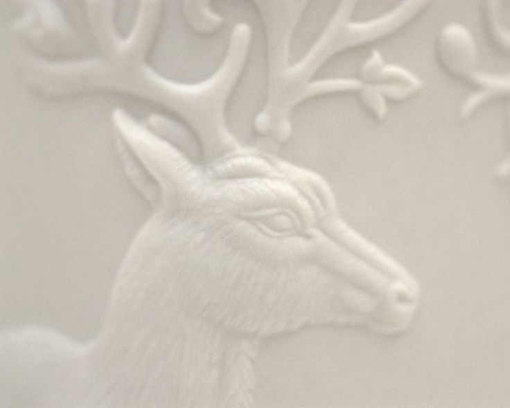 Detail of the relief work on Russell's Antler vase. #handcrafted