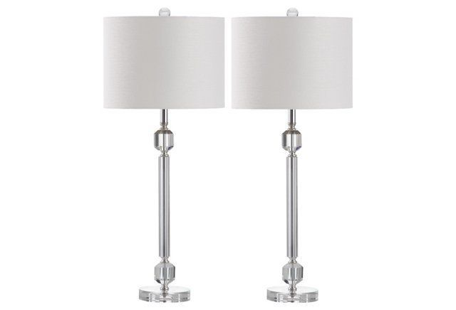 Knight Table Lamp Set, Silver