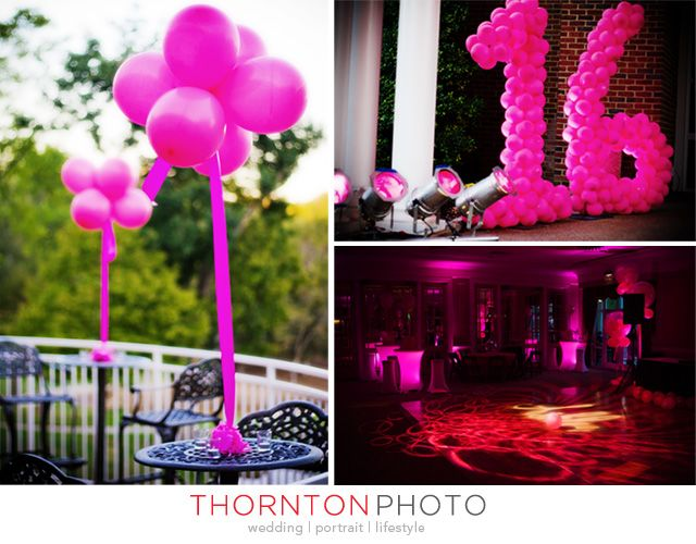27 best Sweet 16 Balloon Party Decor images on Pinterest 16