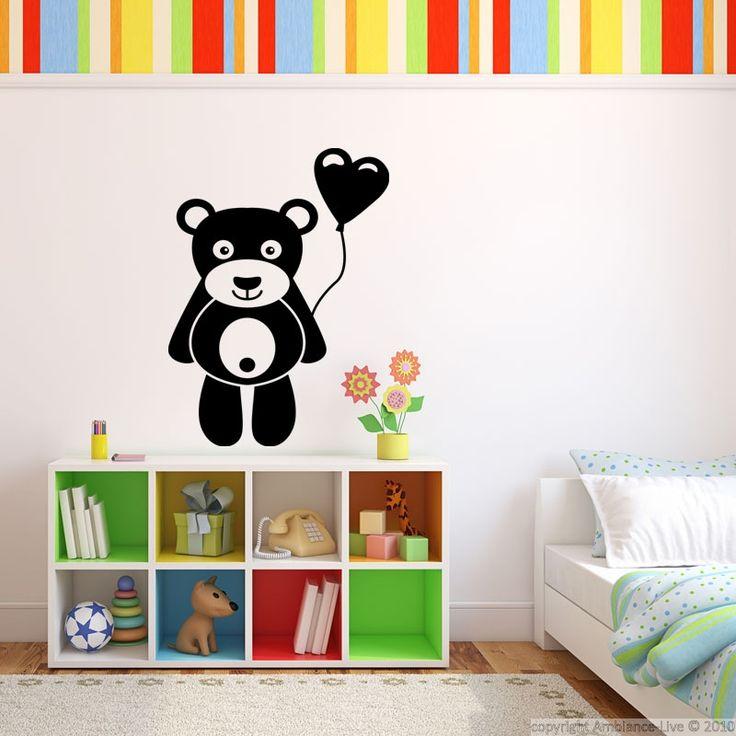 Sticker design ourson avec cœur