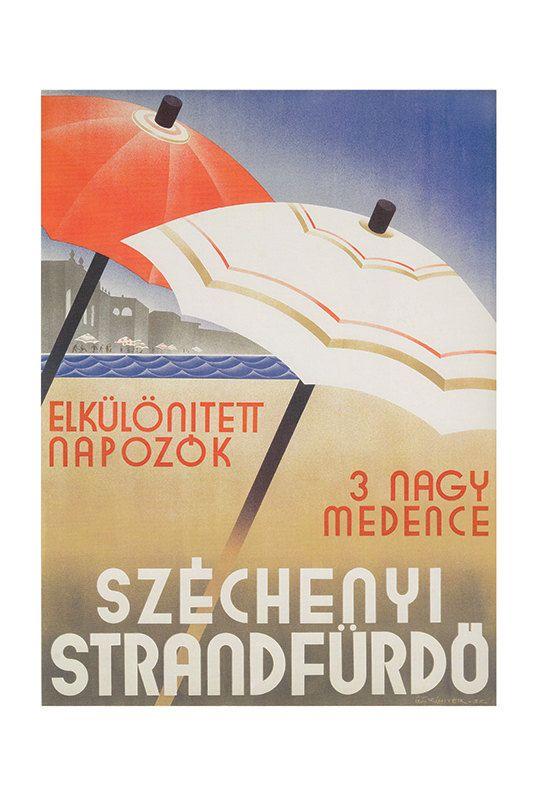 HUNGARY POSTER Travel Poster Travel Print Art by ArtDecoGallery