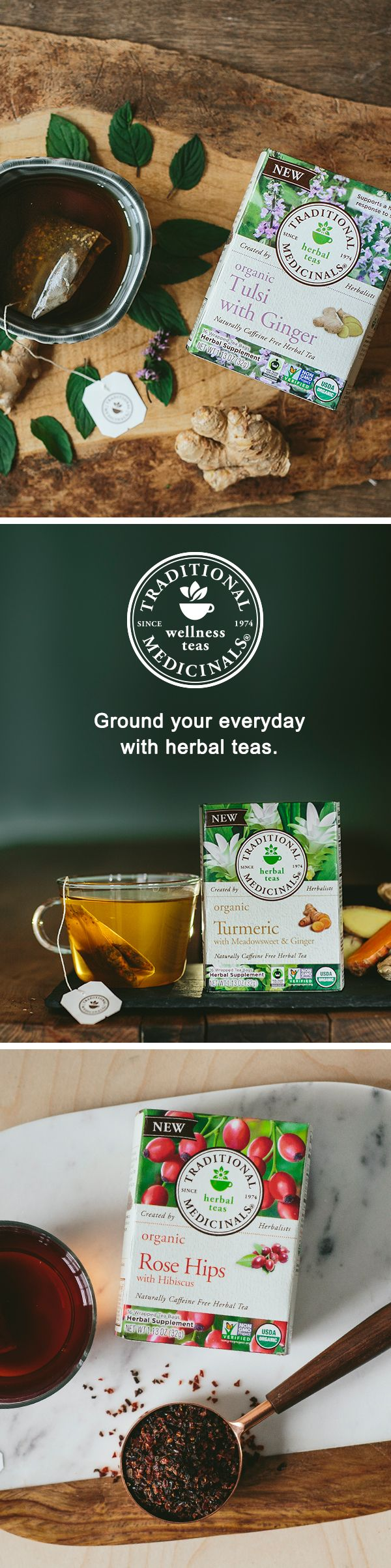 Love herbal teas? Explore our tea blends for every day — from Tulsi with Ginger that helps support a healthy response to stress without slowing you down to Roasted Dandelion Root that supports healthy digestion. And for post-workout rejuvenation, enjoy a warm cup of Turmeric with Meadowsweet & Ginger. Learn how to steep each cup of tea with responsibly sourced herbal medicine.