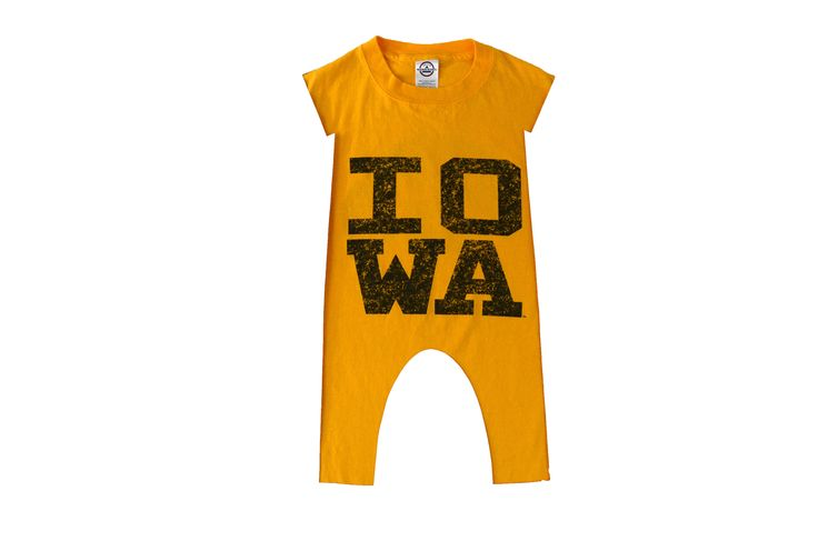 Iowa Hawkeyes baby jumpsuit - made to order -  https://www.etsy.com/listing/538996023/iowa-hawkeyes-baby-jumpsuit-made-to?utm_campaign=crowdfire&utm_content=crowdfire&utm_medium=social&utm_source=pinterest