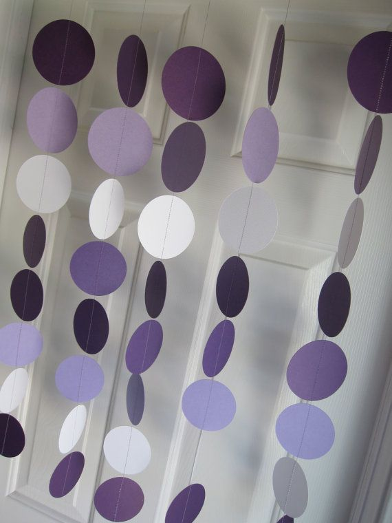 Paper Garland Circles Dangling Decorations Baby by SuzyIsAnArtist, $22.00