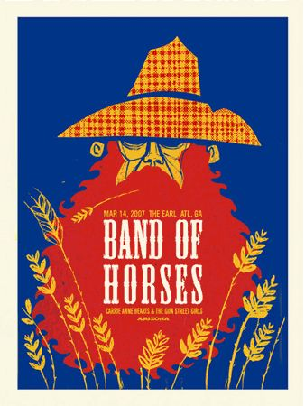 Band of Horses Gig Poster by Methane Studios