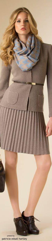 Luisa Spagnoli - FW 2015  women fashion outfit clothing style apparel @roressclothes closet ideas