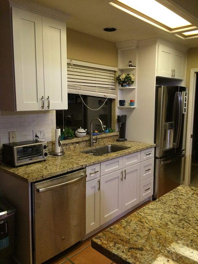 Our white shaker style cabinets from kitchen cabinet for Kitchen cabinets king