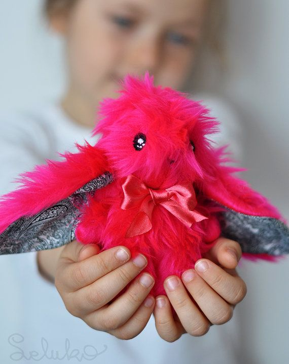 miniature hare 51/ original LELUKO toy/ stuffed by LelukoToys, $29.00