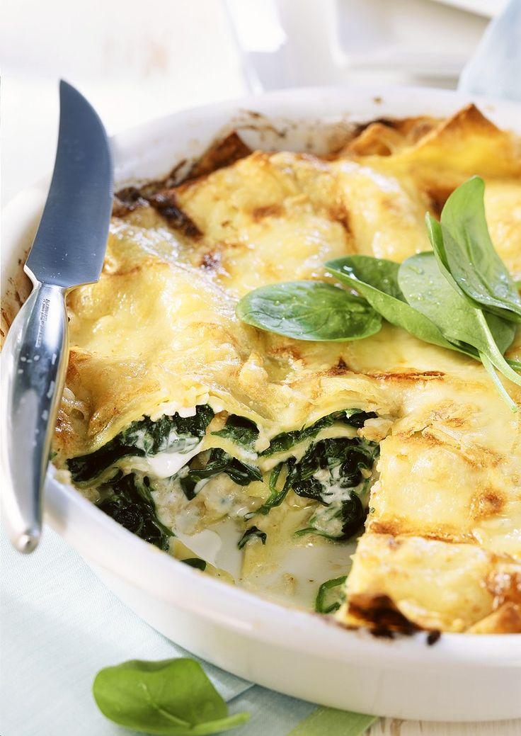 Lasagne met spinazie http://www.njam.tv/recepten/lasagne-met-spinazie