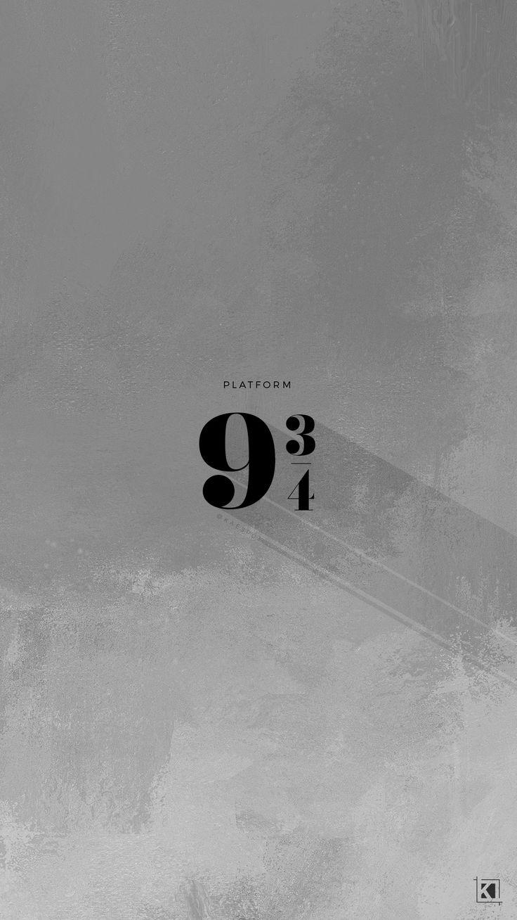 Platform 9 and 3/4 minimal aesthetic poster design Phone