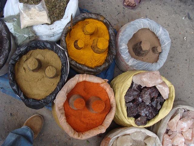 Spices market, Kathmandu, Nepal #travel #nepal #photo #colour