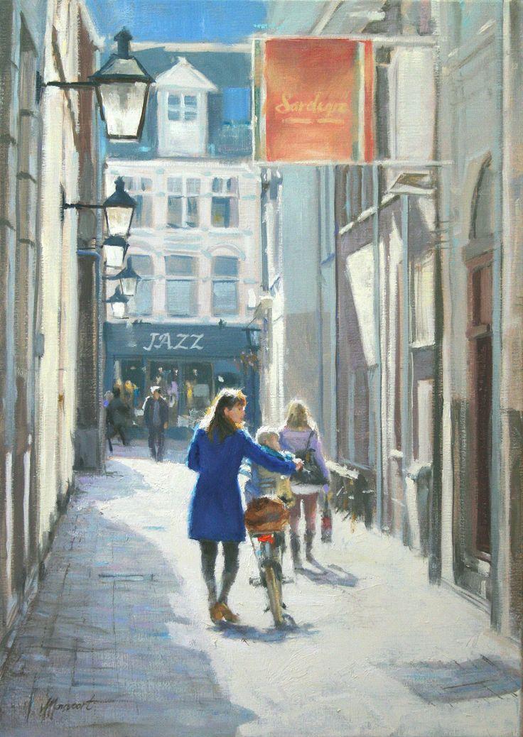 Onderweg | oil on linen painting by Richard van Mensvoort