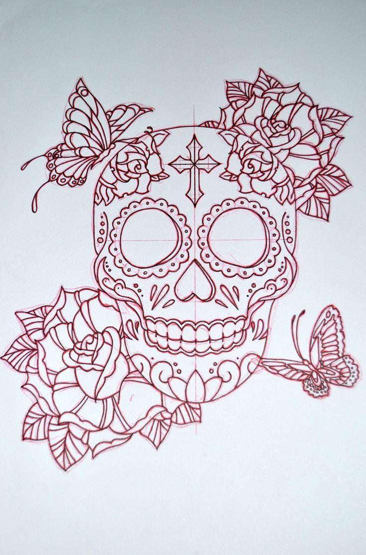Sugar Skull design by AvengedGinge.deviantart.com on @DeviantArt